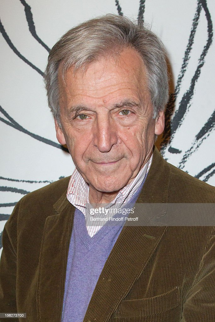 Greek-born filmmaker <a gi-track='captionPersonalityLinkClicked' href=/galleries/search?phrase=Costa-Gavras&family=editorial&specificpeople=213531 ng-click='$event.stopPropagation()'>Costa-Gavras</a> poses as he attends 'Le Capital' premiere at Gaumont Parnasse on November 12, 2012 in Paris, France.