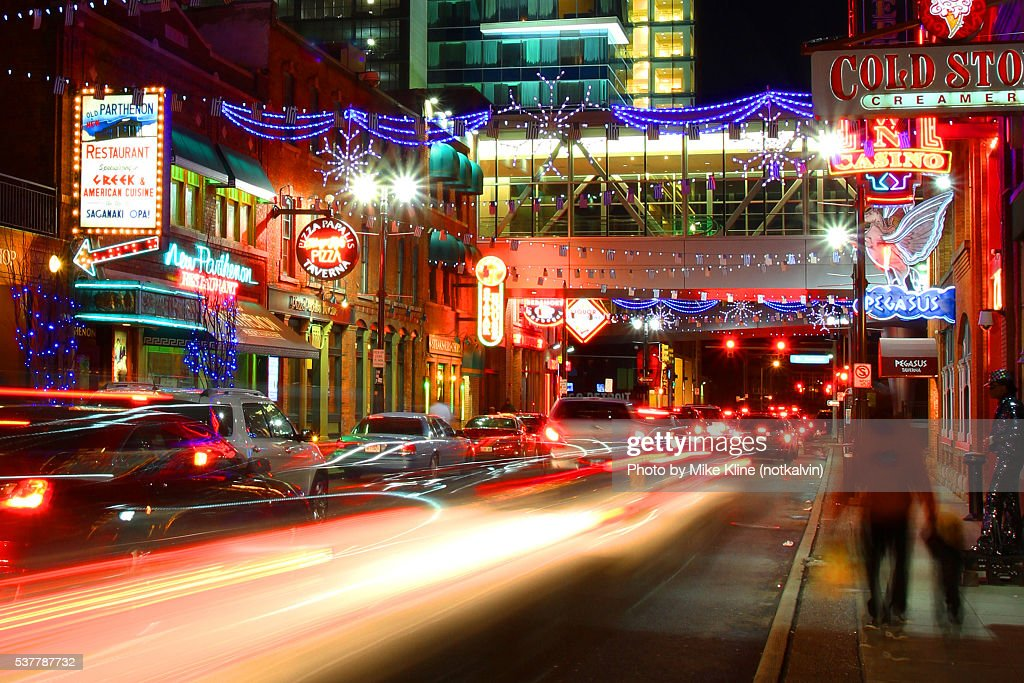 Greektown lights