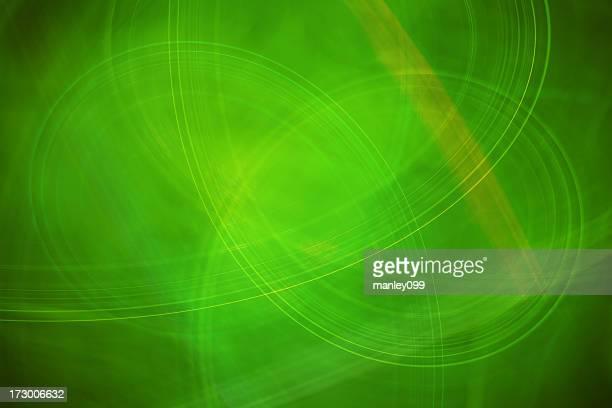 Fond abstrait vert avec Rayure orange