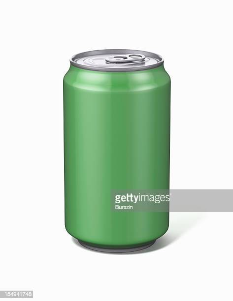 Green Aluminium Soda Can