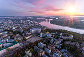 Green and beautiful center of Kiev, Ukraine
