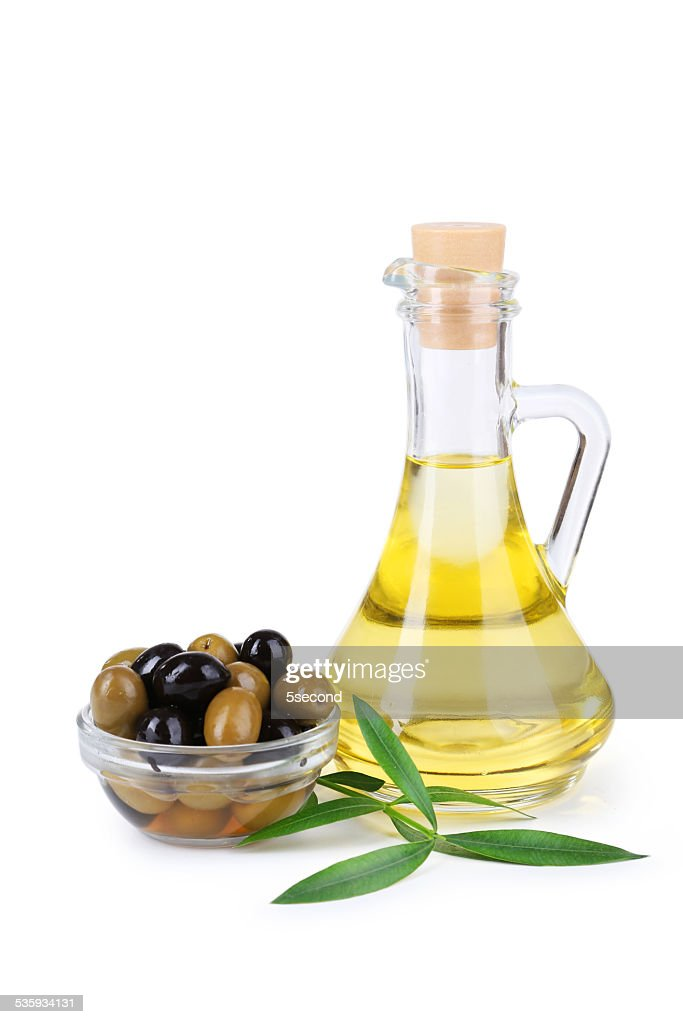 Green and black olives isolated on white : Stock Photo