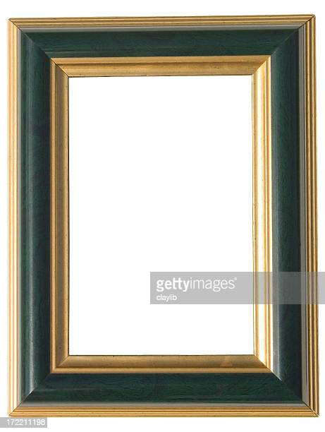 green and gold art frame: with clipping path