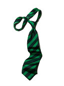Green and Navy Striped Tie