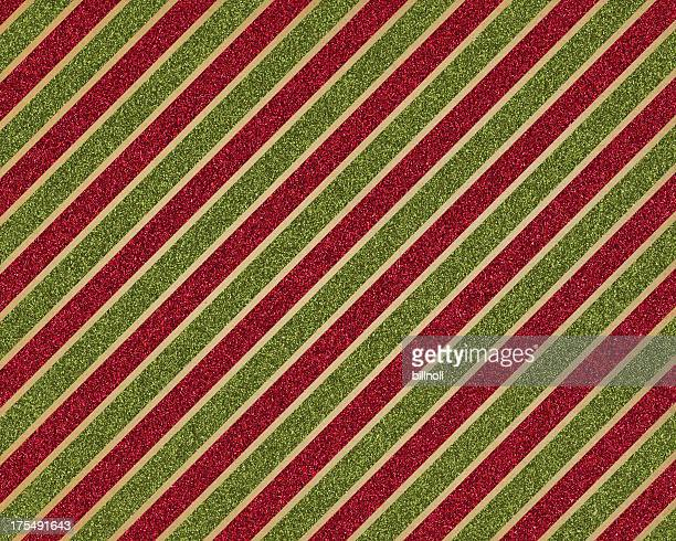 green and red glitter stripe paper