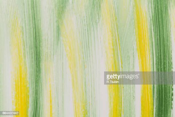 Green and Yellow Brush Strokes texture