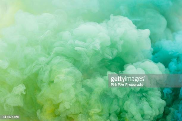 green and yellow smoke