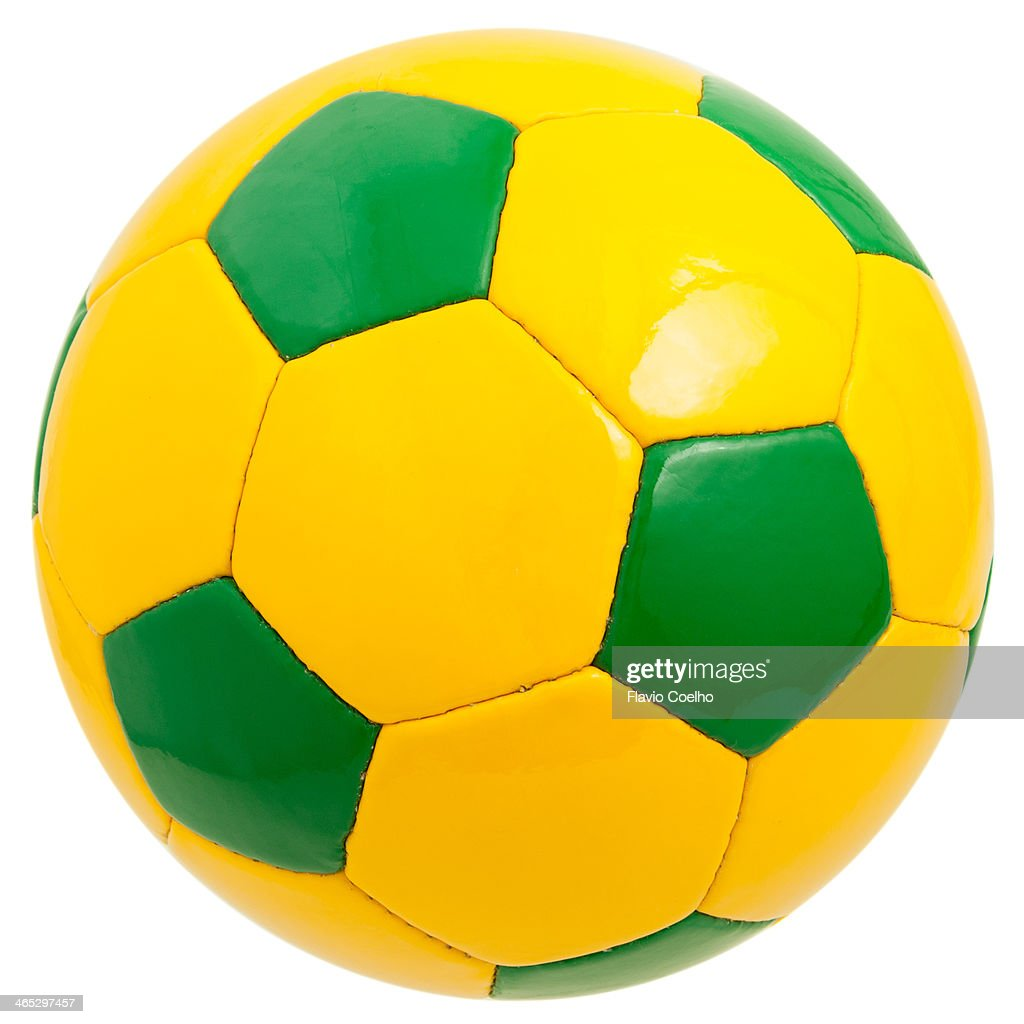 Green and yellow soccer ball