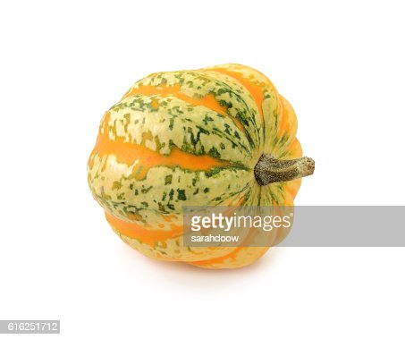 Green and yellow striped Festival squash : Foto de stock