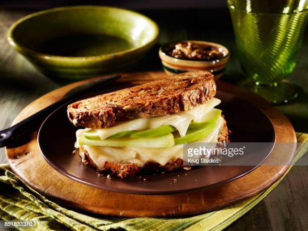 Green Apple and Cheese Sandwich