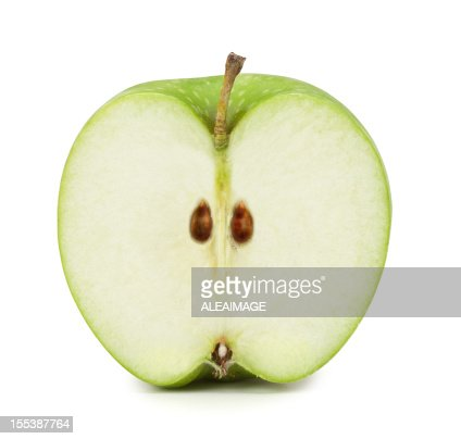 Green Apple cross section. Clipping Path included