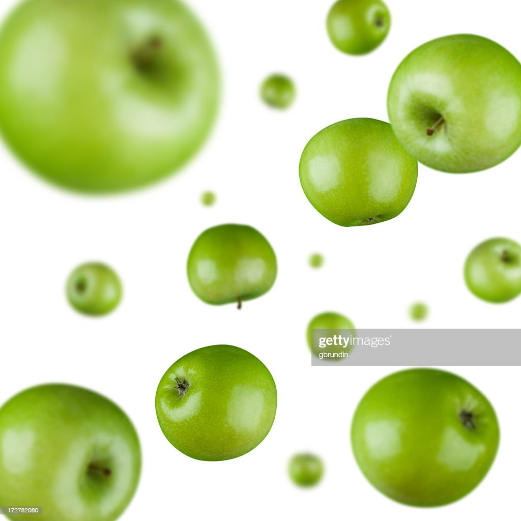 Green apple explosion background