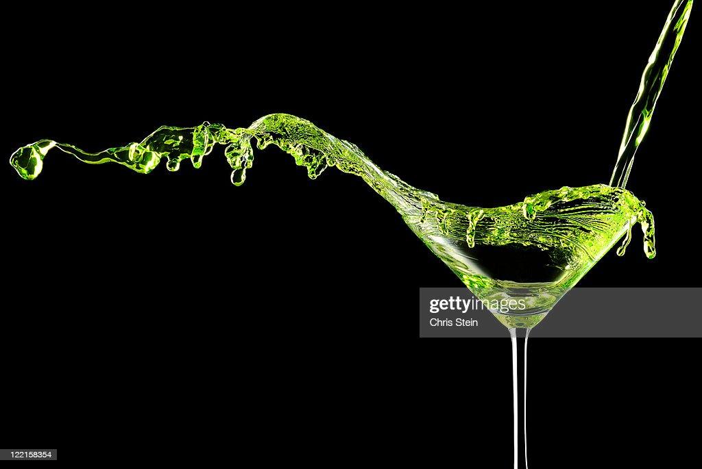 Green Apple Martini Cocktail. : Stock Photo