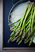 Green asparagus; seen from above