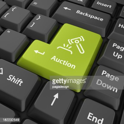 green auction enter button
