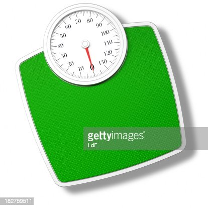 Green Bathroom Scale isolated on withe