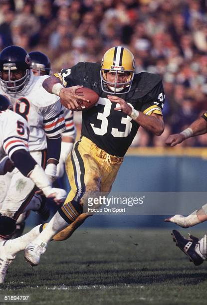 Green Bay Packers running back Barty Smith runs the ball against the Chicago Bears circa 1970's