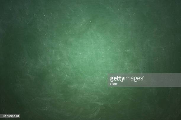 Green blackboard with white chalk streaks
