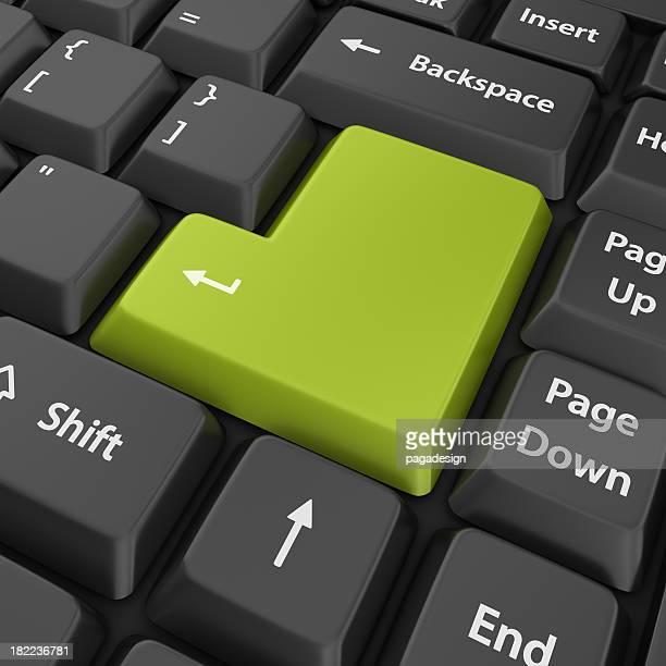 "Grüne leeren Geben Sie """
