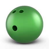 Green bowling ball