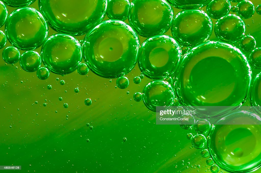Green bubbles background : Stock Photo