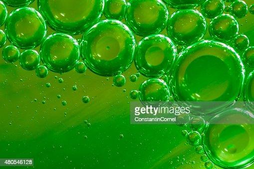 Bolle di sfondo verde : Foto stock