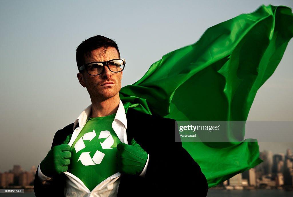 Green Businessman : Stock Photo