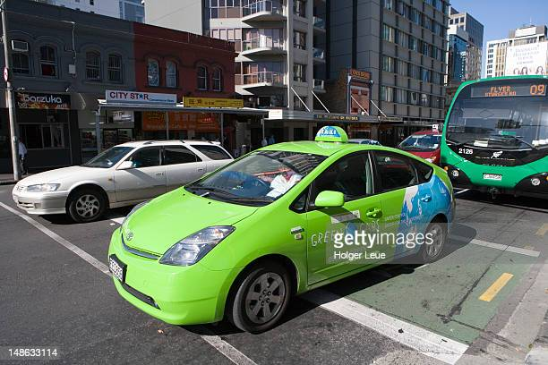 Green Cabs taxi.