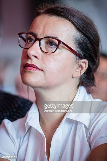 Green candidate for the French Presidential Election in 2017 Cecile Duflot attends the 'Festival de l humanite' a festive and political event...