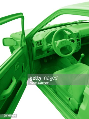 Green car, environment. : Bildbanksbilder
