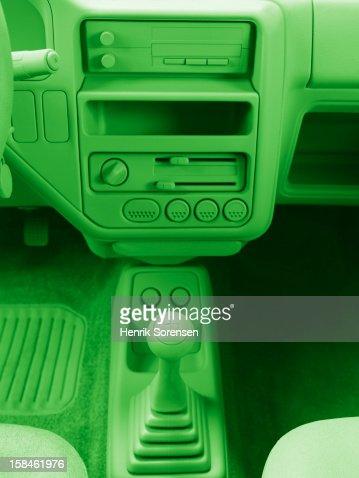 Green car, environment. : Stock Photo