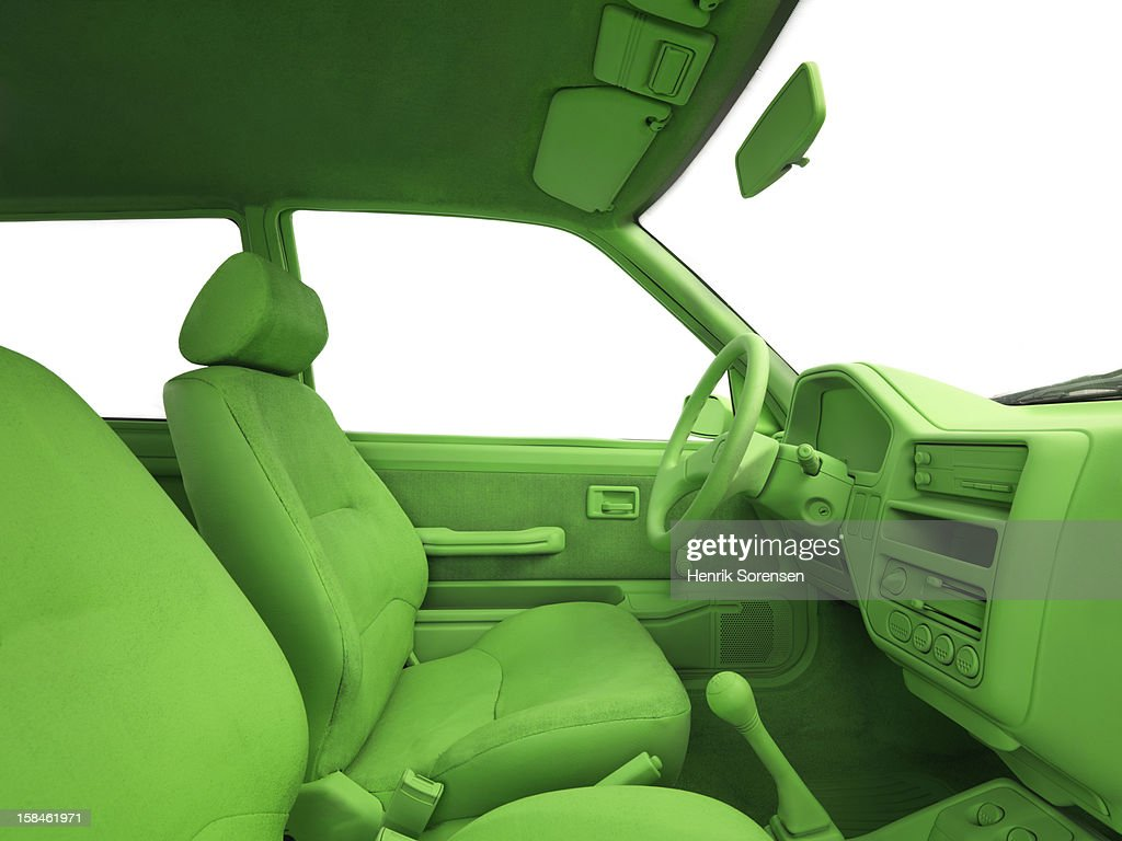Green car, environment. (View from passengers see : Stock Photo