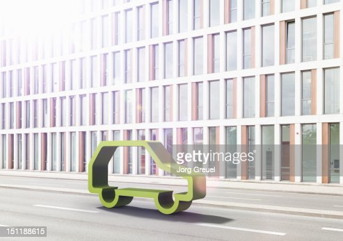 Green car : Bildbanksbilder