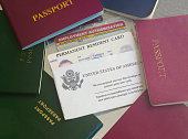 Green card with passports