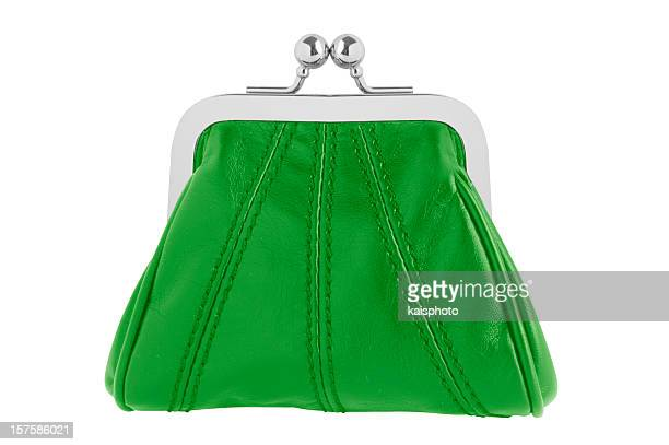 Green changing purse