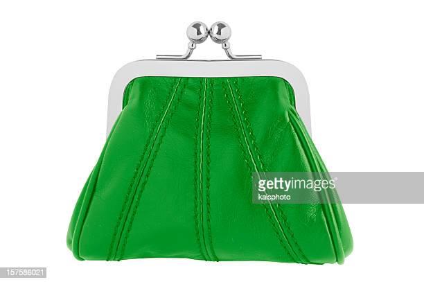 Grüne wechselnde purse
