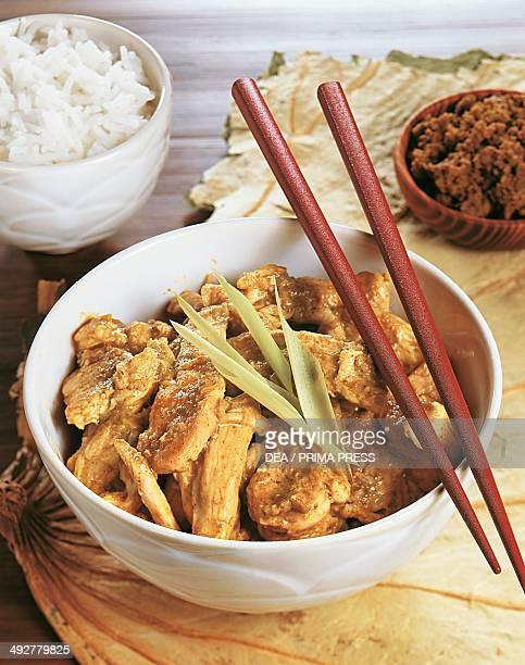 Green chicken curry Thailand