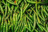 Green chili peppers on sale