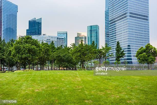 Grüne city park