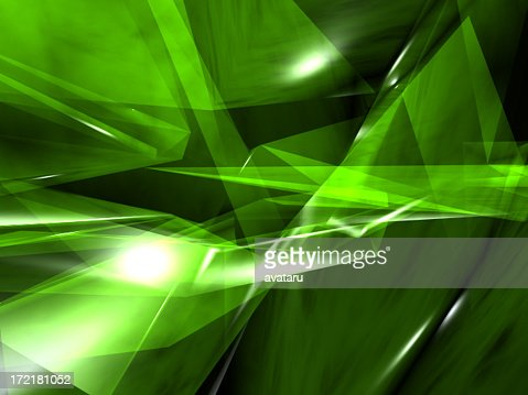 Green crystal render II