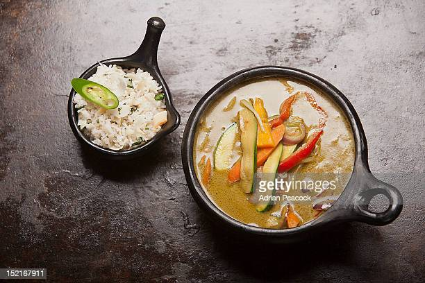green curry, rice