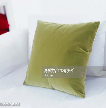 Green Cushion on Sofa