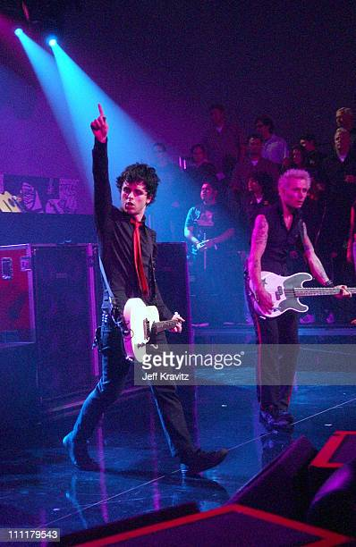 Green Day during 'VH1 Storytellers Green Day' Airing April 3 2005 at Sony Studios in Culver City California United States