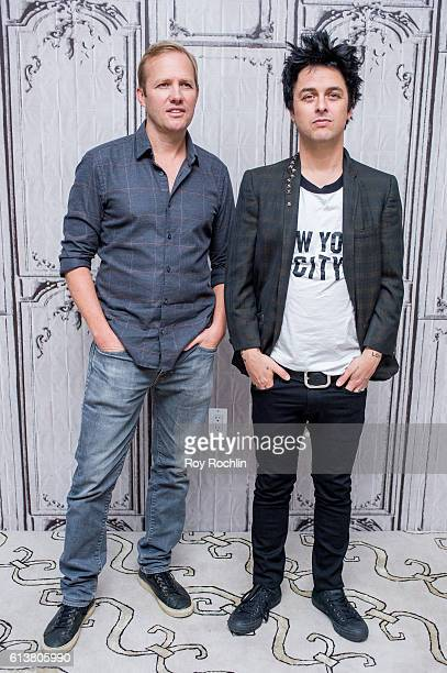 Green Day front man Billie Joe Armstrong and Director Lee Kirk discuss 'Ordinary World' at AOL HQ on October 10 2016 in New York City