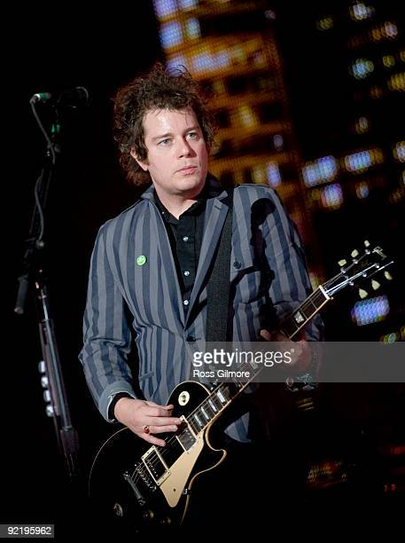 Green Day guitarist Jason White performs on stage at SECC on October 19 2009 in Glasgow Scotland