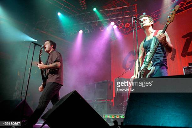 Green Day performing at Roseland on Wednesday night October 4 2000This imageBillie Joe Armstrong left with Mike Dirnt