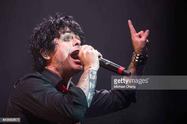 Green Day's Billy Joe Armstrong performs at The Amphitheater at the Wharf on September 6 2017 in Orange Beach Alabama