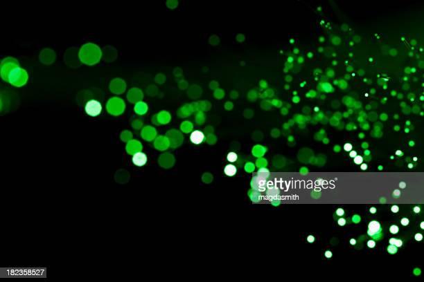 green defocused lights