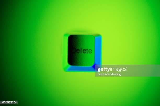 Green Delete Keyboard Key