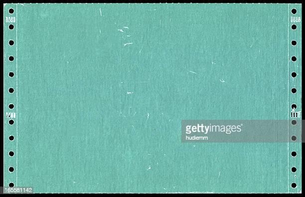 Green dot matrix printer paper background textured